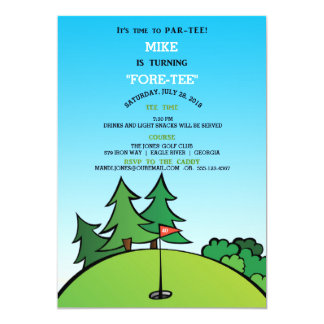 Hole in One Golf Birthday Party Invitation