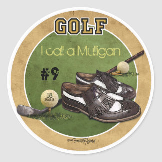 Hole in One - Golf Classic Round Sticker
