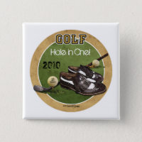 Hole in One - Golf Pinback Button