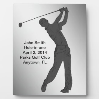 Hole-in-one Golf Swinger Customizable Photo Plaques