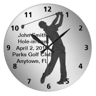 Hole-in-one Golf Swinger Customizable Wall Clocks