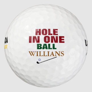 hole-in-one golfer's golf balls