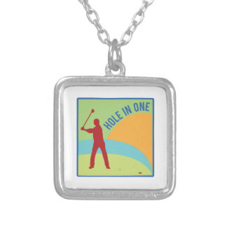 Hole in One Square Pendant Necklace