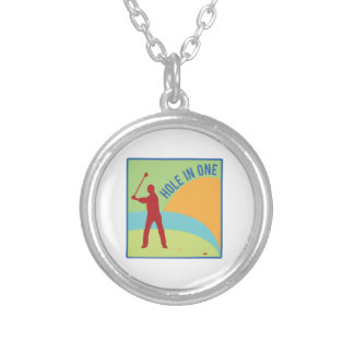 Hole in One Round Pendant Necklace
