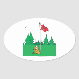 Hole In One Oval Sticker