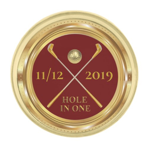 Hole In One Personalized Golf Lapel Pin