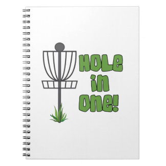 Hole In One Spiral Notebooks