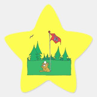 Hole In One Star Sticker