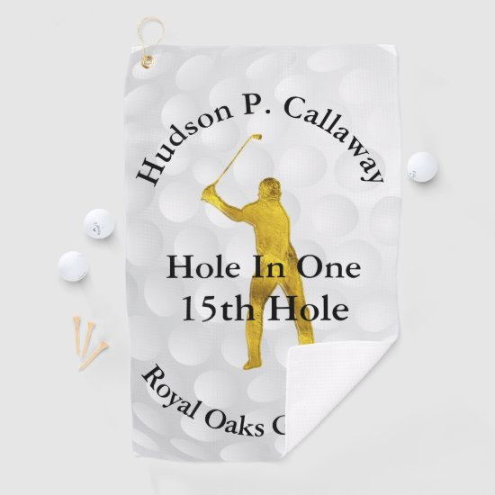 Hole in One Stats golf Towel