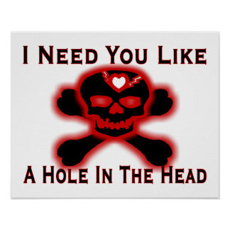 Hole In The Head Anti Valentine Poster
