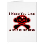 Hole In The Head Greeting Card
