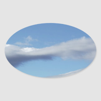 Hole in the Sky Oval Sticker