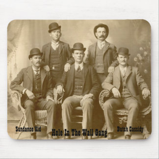 Hole In The Wall Gang Butch Cassidy & Sundance Kid Mouse Pad