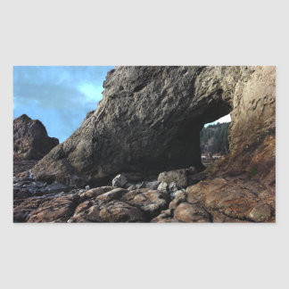 Hole-in-The-Wall Olympic National Park Rectangular Sticker