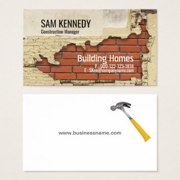 Hole in Wall-Construction Manager Business Card