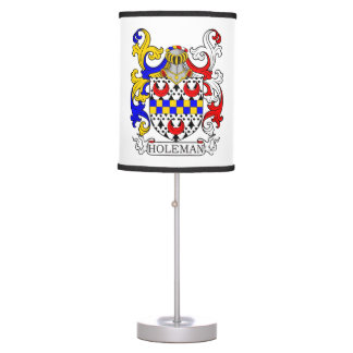 Holeman Coat of Arms Desk Lamp