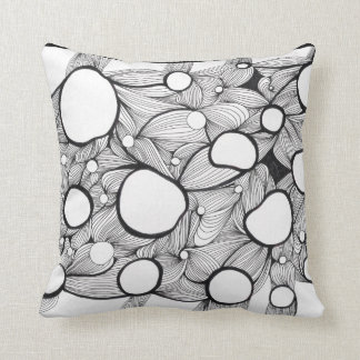 Holes and Lines studio Throw Pillow