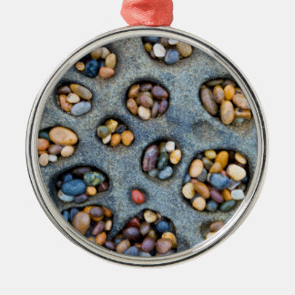Holes filled with pebbles, CA Metal Ornament