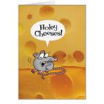 Holey Cheeses! Funny Birthday card