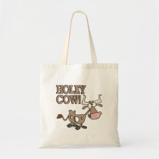 holey cow funny holy cow pun cartoon bag