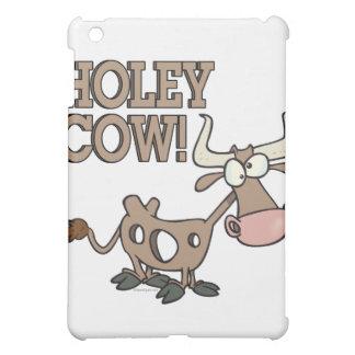 holey cow funny holy cow pun cartoon iPad mini cover