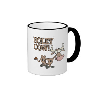 holey cow funny holy cow pun cartoon mugs