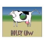 Holey Cow Postcard