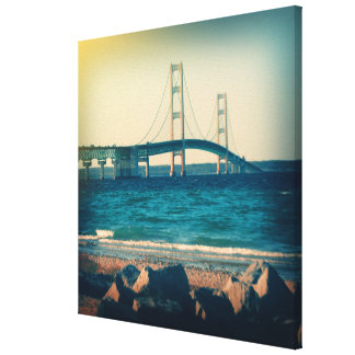 Holga Style Mackinac Bridge Canvas Print