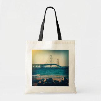 Holga Style Mackinac Bridge Tote Bags