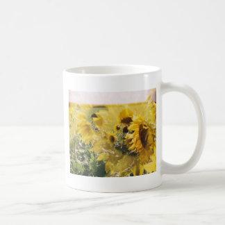 holga sunflowers: retro dreamy vibe classic white coffee mug