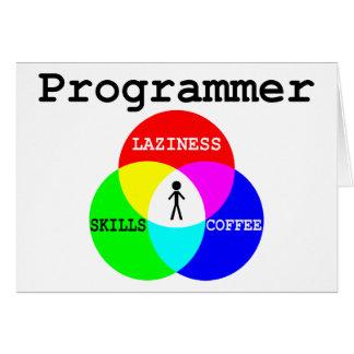 Holgazanería de la intersección del programador, h tarjeta de felicitación