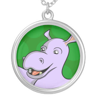 Holger Hippo Round Pendant Necklace
