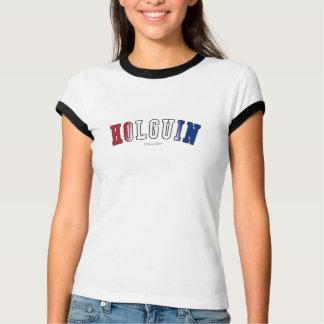Holguin en colores de la bandera nacional de Cuba Playera