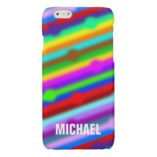 HOLI colored Stripes Dots soft + your ideas Glossy iPhone 6 Case