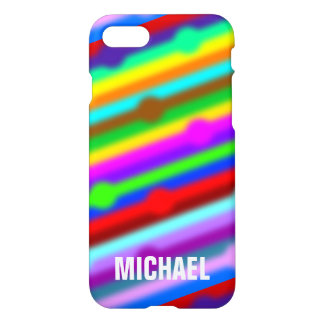 HOLI colored Stripes Dots soft + your ideas iPhone 7 Case