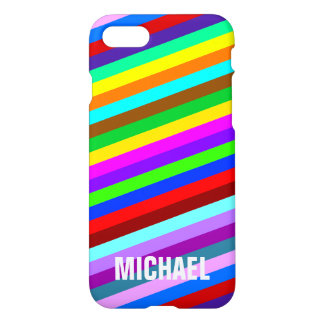 HOLI colored Stripes pattern + your ideas iPhone 7 Case
