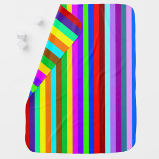 HOLI colored Stripes pattern + your ideas Stroller Blanket