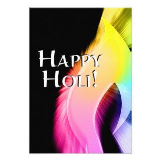 holi feliz luz del color invitacion personal