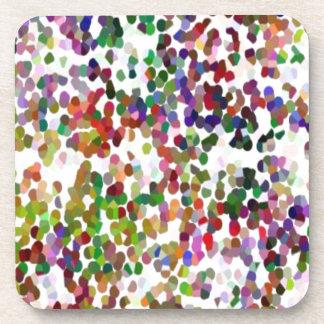 HOLI - Festival of Colors - Elegant MultiColor Dot Coasters