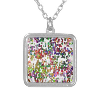 HOLI - Festival of Colors - Elegant MultiColor Dot Square Pendant Necklace