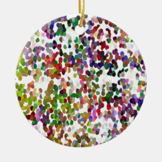 HOLI - Festival of Colors - Elegant MultiColor Dot Christmas Tree Ornaments