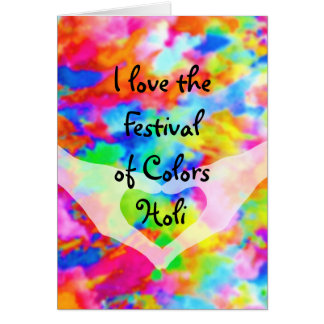 HOLI Festival of Colors + your ideas Card