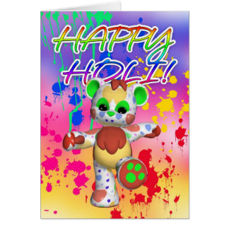 Holi Festival Of Colour - Paint Splashes Card