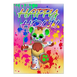 Holi Festival Of Colour - Paint Splashes Greeting Card