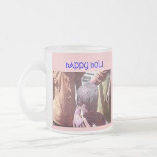 Holi Hai Frosted Glass Coffee Mug