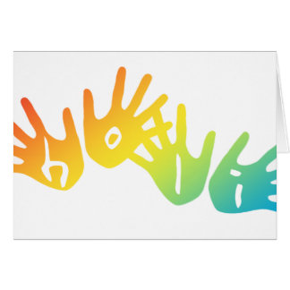 holi hands card