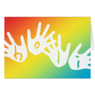 holi hands of color card