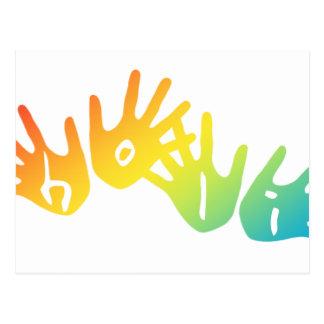 holi hands postcard