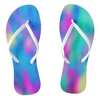 Holi Multi Colored Pattern 2 + your ideas Flip Flops