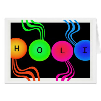 Holi Spring Festival of Colors Greeting Card
